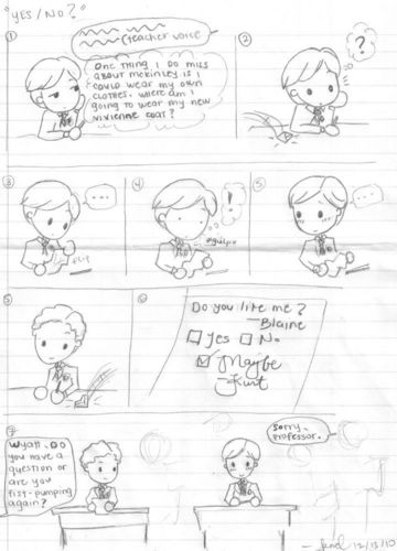 Note-Passing Klaine