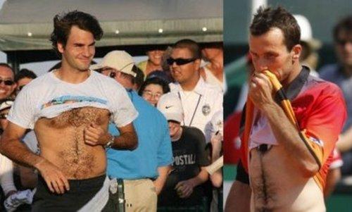Roger Federer and Radek Stepanek: hairy idols !!!!