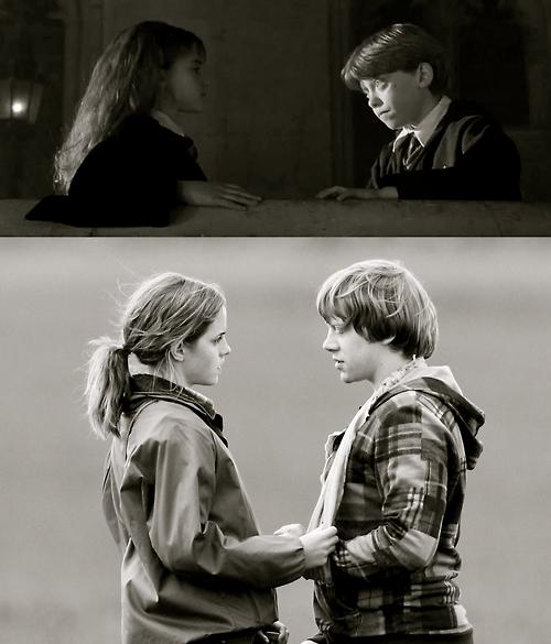 Ron & Hermione - Harry Potter Fan Art (17786436) - Fanpop