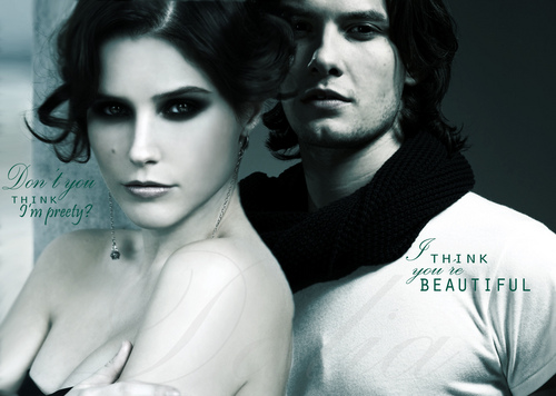 Vampire Academy wallpaper probably containing a portrait titled Rose & Dimitri