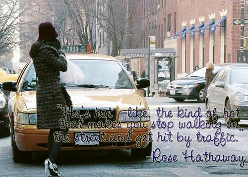 Vampire Academy wallpaper possibly containing an automobile, a hatchback, and a sedan titled Rose quote