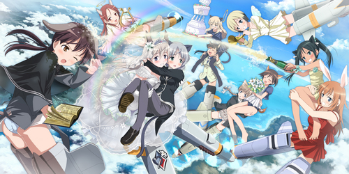 Strike Witches 壁紙 probably with アニメ titled SKY PARTY!!