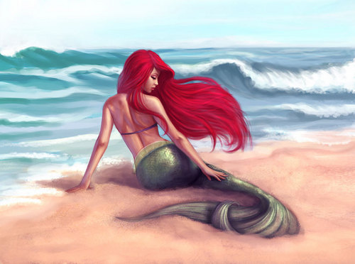 Disney Princess kertas dinding probably with a bikini called Sexy ariel