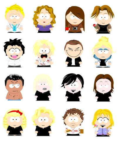 South Park-ed characters