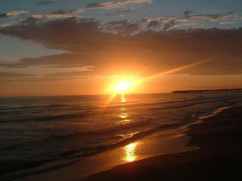 Sunset spiaggia