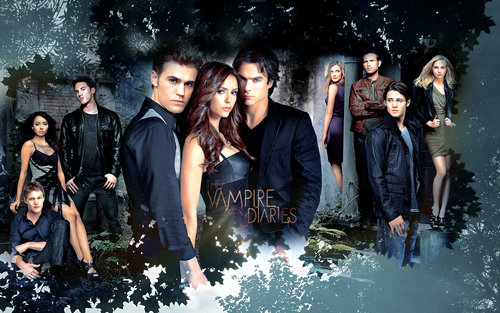 TVD Cast - the-vampire-diaries-actors Wallpaper