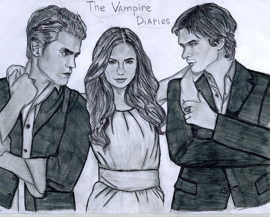 The vampire diaries drawing the vampire diaries actors - Vampire diaries dessin ...