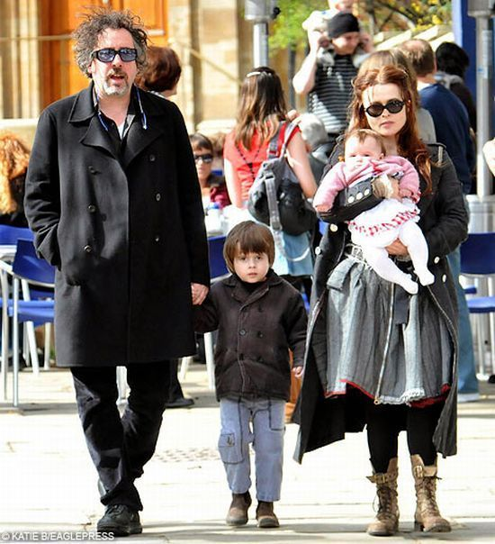 Family photo of the artist, dating Helena Bonham Carter, famous for The Nightmare Before Christmas.