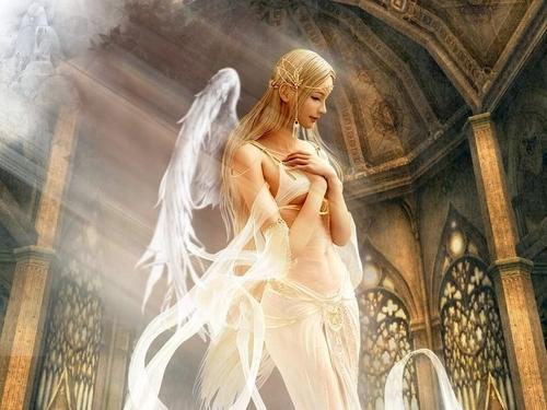 Fantasy wallpaper titled White Gothic Angel