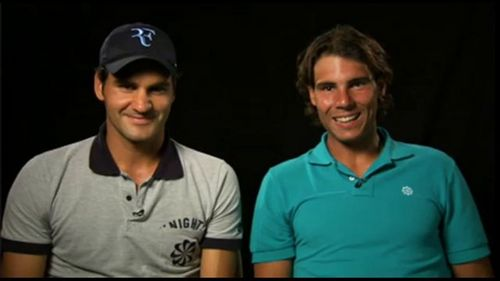 Why does have Roger wider shoulders than Rafa?