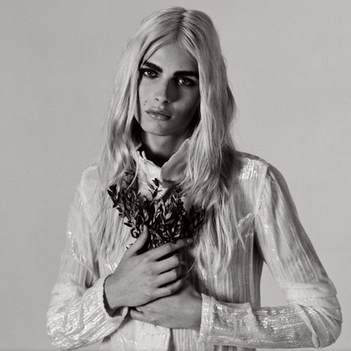 andrej pejic Hintergrund probably containing an outerwear and a portrait titled andrej