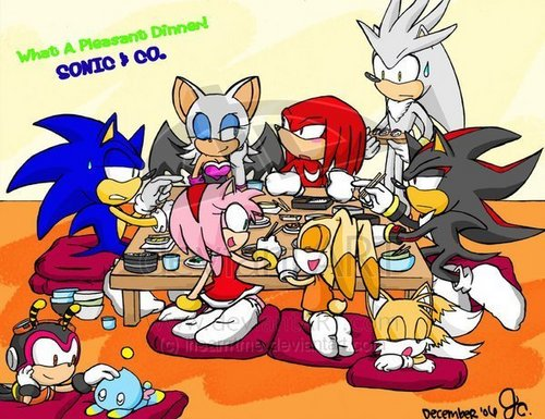 family chajio, chakula cha jioni of sonic as always