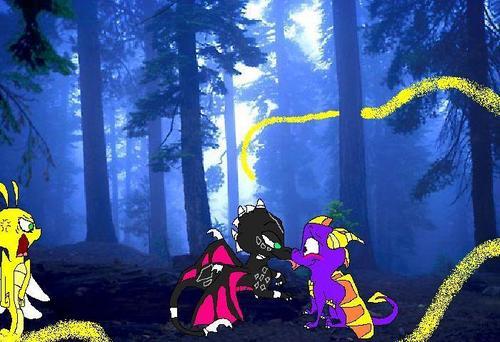 接吻 in the forest