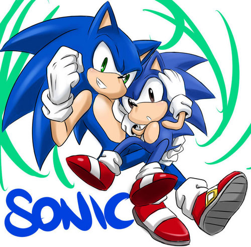 old and new sonic