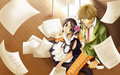 usui &amp; ayuzawa - kaichou-wa-maid-sama wallpaper