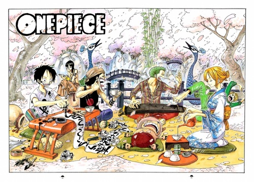 one piece wallpaper possibly with anime titled Luffy, Robin, Zoro, Sanji, Chopper, Usopp, Nami
