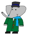Alexander - Christmas Outfit - babar-the-elephant fan art