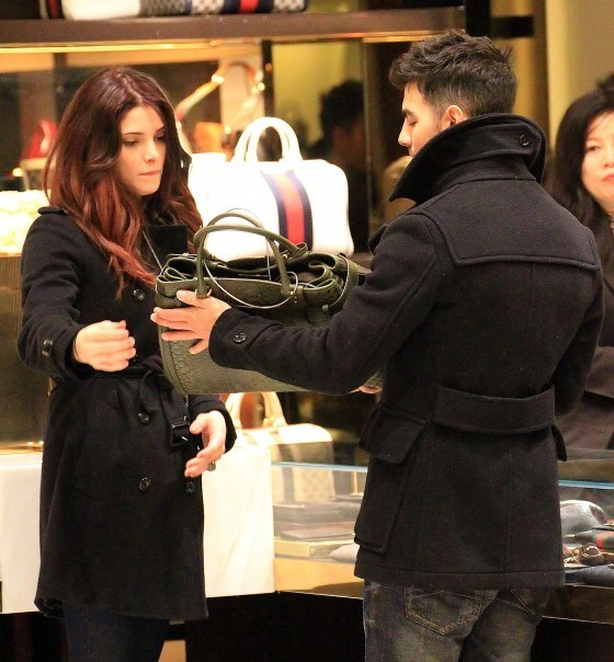 Ashley Greene & Joe Jonas Shopping In New York City