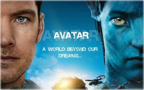 Avatar wallpaper probably containing a sign and a portrait titled Avatar  -a world beyond our dreams-