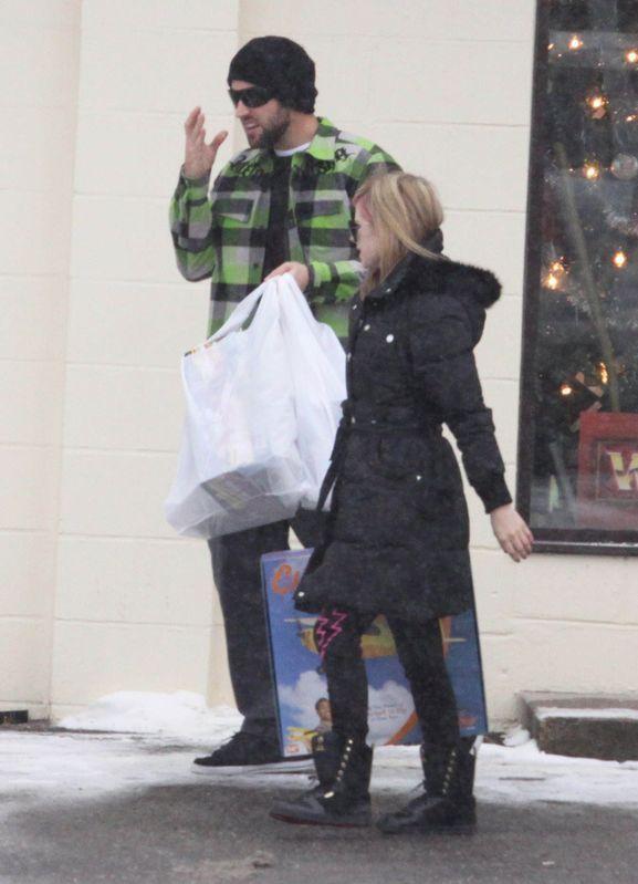 Avril and Brody Christmas shopping at Kingston , Ontario!