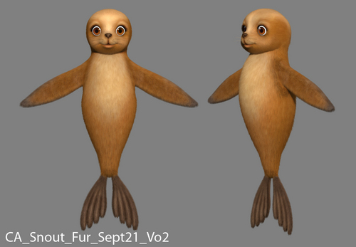 바비 인형 in A Mermaid Tale: Developing Snoutz, the Cute Sealion