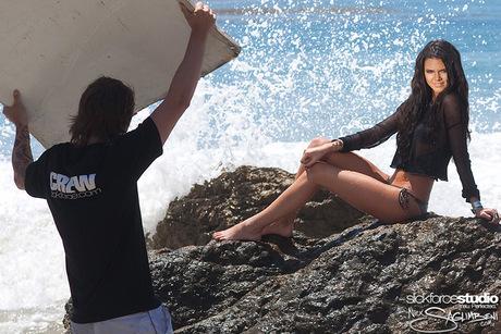 Kendall Jenner wallpaper titled Beach Shoot