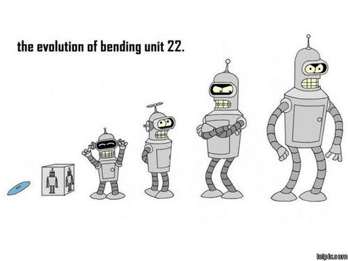 Bender 壁紙 titled Benders evolution