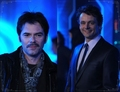 Billy Burke & Michael Sheen at the Tron Legacy After Party! - twilight-series photo
