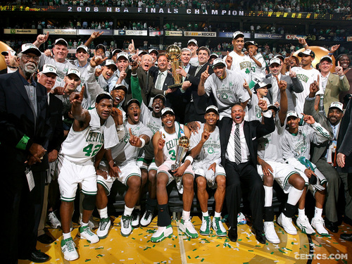 Boston Celtics پیپر وال possibly containing a business suit, a well dressed person, and a باسکٹ, باسکٹ بال player entitled Boston Celtics World Championship 2008