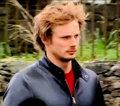 Bradley James windy hair