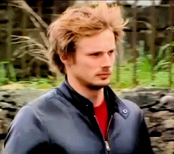 Bradley James windy hair