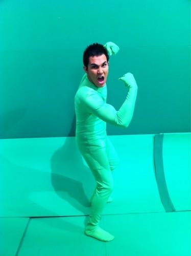 Carlos on a Green Screen