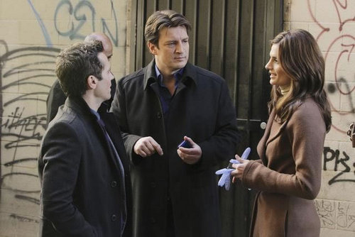 城 & Beckett 壁紙 containing a business suit titled Castle_3x11_Nikki Heat_Promo pics