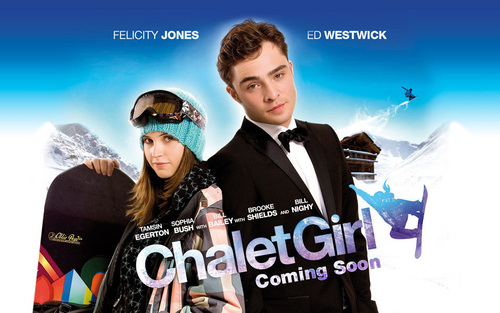 Chalet Girl poster with Ed Westwick