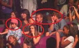 Chris, Caitlin, Ryan and Chaz at Justin's concert