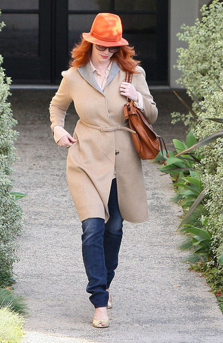 Christina Hendricks Leaving The Andy Lecompte Salon