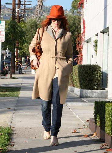 Christina Hendricks Leaving The Andy Lecompte Salon