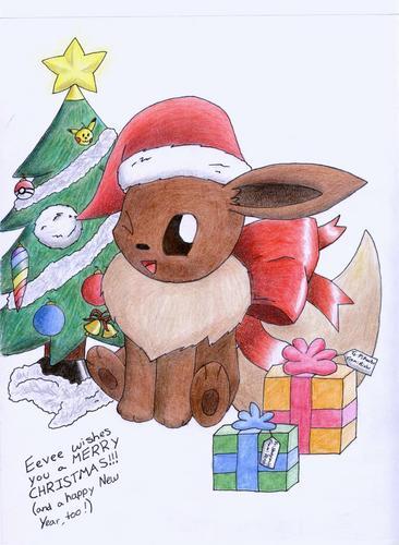 Eevee Evolutions Clan 바탕화면 titled 크리스마스 Eevee