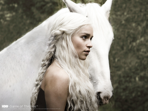 权力游戏 壁纸 possibly containing a lippizan entitled Daenerys Targaryen
