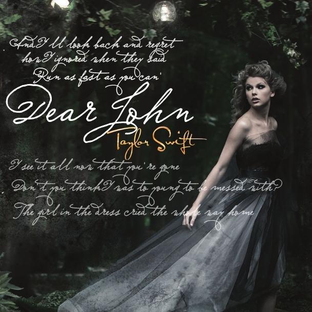 Dear John [FanMade Single Cover] - Taylor Swift 609x609