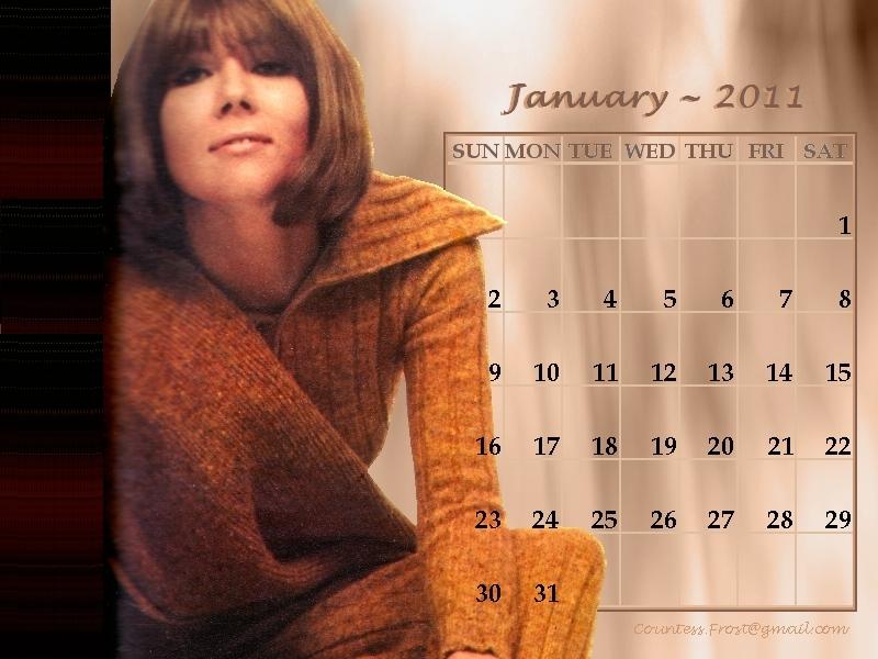 Diana - January 2011 (calendar) - Diana Rigg 800x600