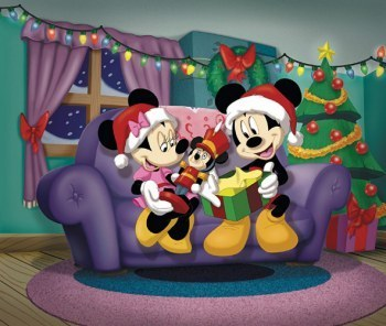 Mickey And Mini At Christmas