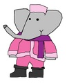 Flora - Christmas Outfit - babar-the-elephant fan art