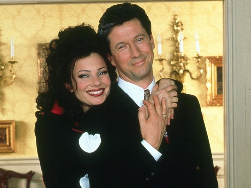 The Nanny wallpaper containing a business suit, a suit, and a well dressed person entitled Fran & Maxwell