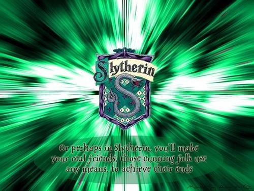 Hogwarts House Rivalry! দেওয়ালপত্র called Go Slytherin!