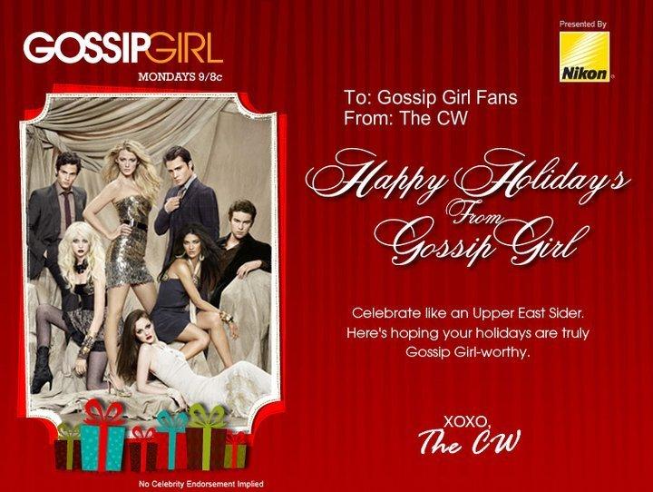 Gossip Girl Holiday E Card Gossip Girl Photo