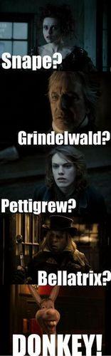 Sweeney Todd ---> Harry Potter :))
