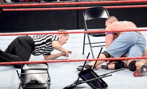 John Cena vs nexASS leader wade - Chairs Match