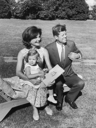John, Jacqueline and Caroline Kennedy