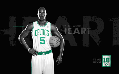 Boston Celtics Hintergrund called Kevin Garnett